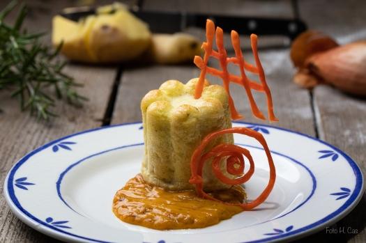 Kartoffelpudding mit Karottensauce 2